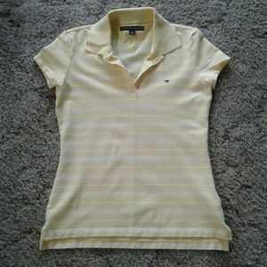 3/$25 Tommy Hilfiger yellow Women's polo size s/p